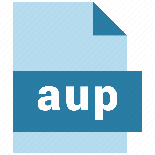 audio file format, aup, extension, file, format, hovytech, type icon