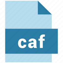 audio file format, caf, document, file, format, type icon