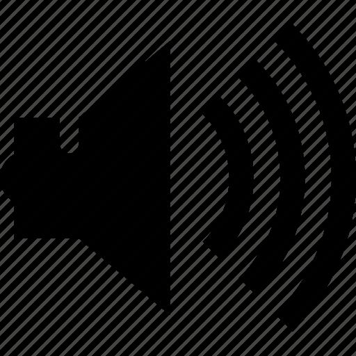 audio, listen, loud, music, sound, speaker, volume icon