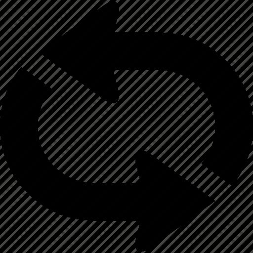 arrow, change, circulation, flow, loop, repeat, sync icon