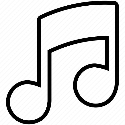 audio, music, note, quaver, song, sound, ui icon