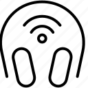 audio, earphones, headphones, music, sound, wifi icon
