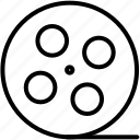 cinema, film, film reel, movie, multimedia, video, video player icon