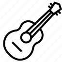 acustic, audio, folk, guitar, music, sound, string instrument icon