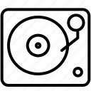 audio, disc jockey, dj, music, sound, turntable, vinyl player icon