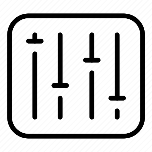 device, equalizer, launchpad, mixer, music, sound, technology icon