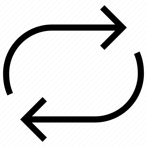 arrow, audio, multimedia, music, player, repeat, video icon