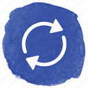 arrow, circle, refresh, replay, turn icon