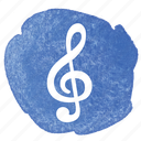 clef, music, notation, sheet music, treble icon