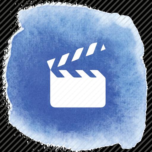 action, clapper, cut, film, movie, shot, take icon