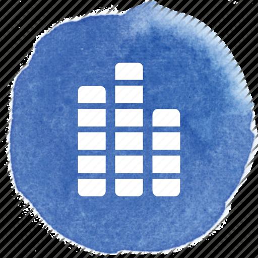 audio, levels, mix, mixer, music, play, sound icon