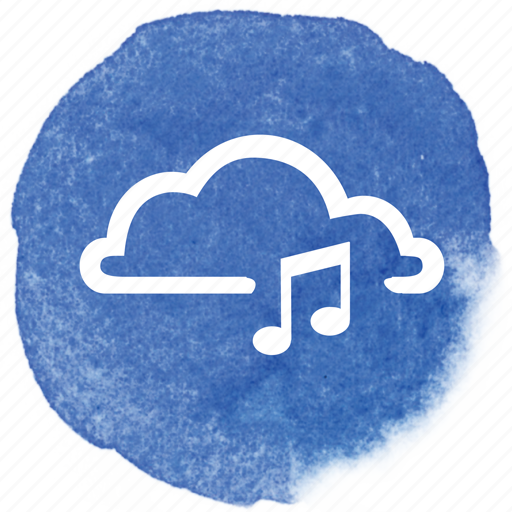 audio, cloud, music, note, online, song, sound icon