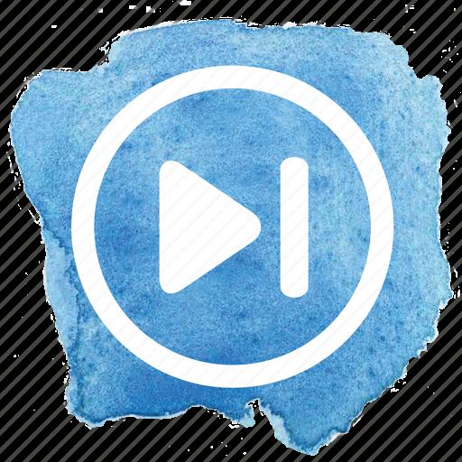 audio, circle, forward, next, track icon
