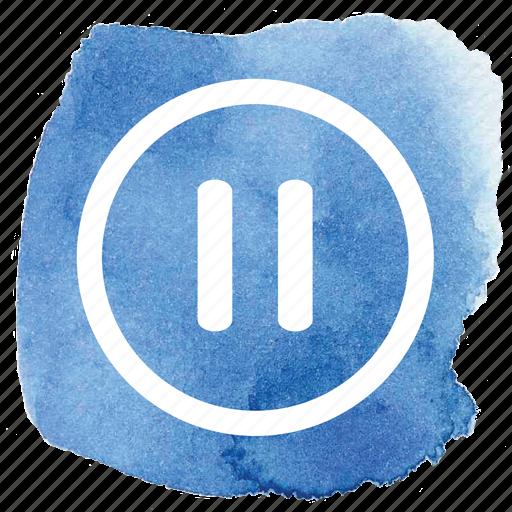 audio, av, circle, music, pause, video icon