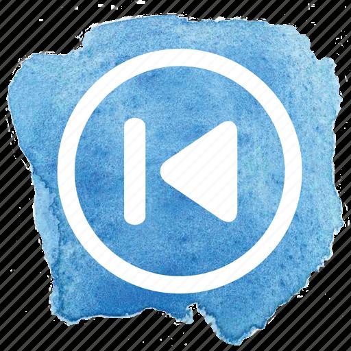 arrow, audio, back, circle, previous, song, track icon