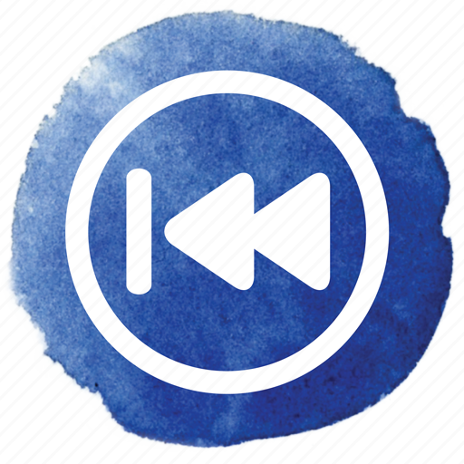 back, circle, music, previous, rewind, song, video icon
