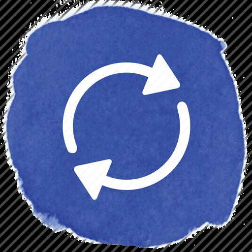 arrow, circle, refresh, replay, turn icon