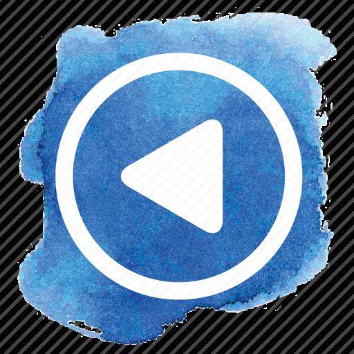 arrow, audio, back, circle, left, previous, rewind icon