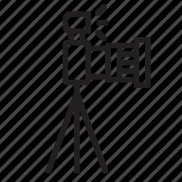 dslr, flash, lens, photo, photography, tripod icon