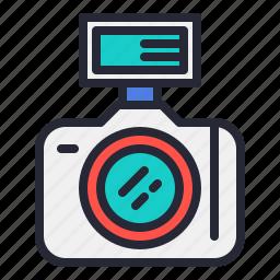 camera, dslr, flash, lens, photo, photography icon