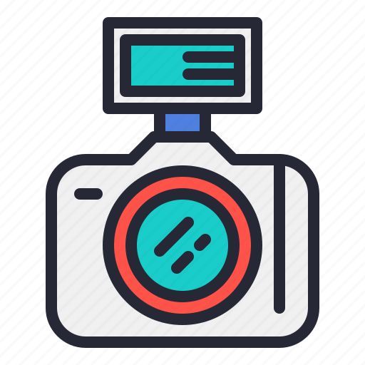 camera, dslr, flash, lens, photo, photography icon