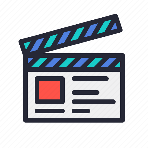 clapper, clapperboard, movie, production, recording, set, video icon