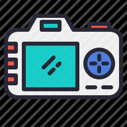 camera, dslr, lens, photo, photography, screen icon