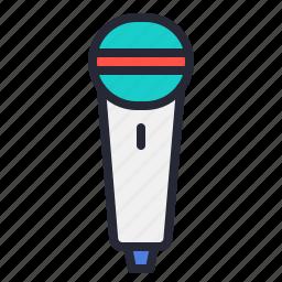 audio, microphone, movie, music, record icon