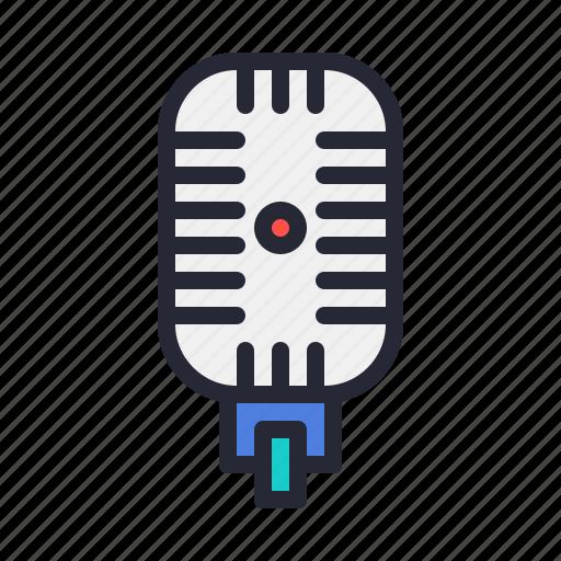 audio, mirophone, music, record, recording, vintage icon
