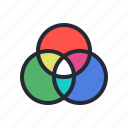 chart, color, rgb, scheme, screen, wheel icon
