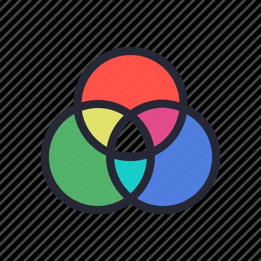 chart, color, rgb, scheme, screen, wheel icon