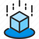 ar, augmented, cube, isometric, reality, virtual