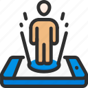 augmented, hologram, isometric, man, mobile, phone, reality icon