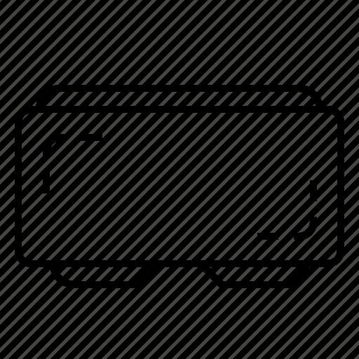 ar, cardboard, empty, glasses, virtual reality, vr icon