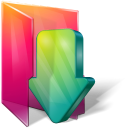 aurora, download, folder icon