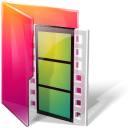 aurora, folders, movies icon