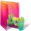 controller, folder, games icon