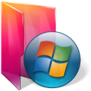 aurora, folder, windows icon