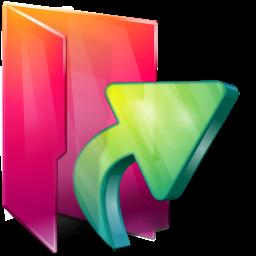 arrow, aurora, folders, links icon