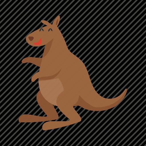 australia, colorful, kangaroo, landmark, object icon