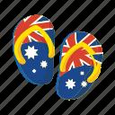 australia, colorful, flag, landmark, object, sandal icon
