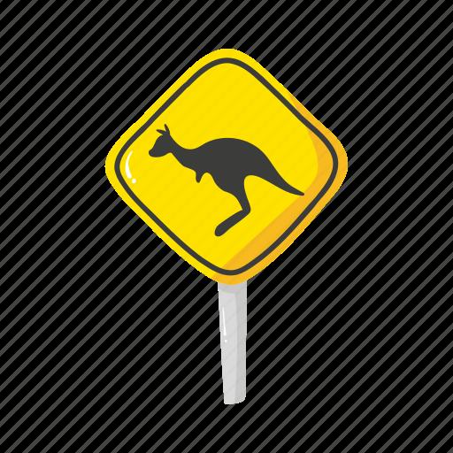australia, colorful, landmark, object, road, sign, warning icon
