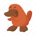 animal, australia, brown, colorful, landmark, object, platypus icon