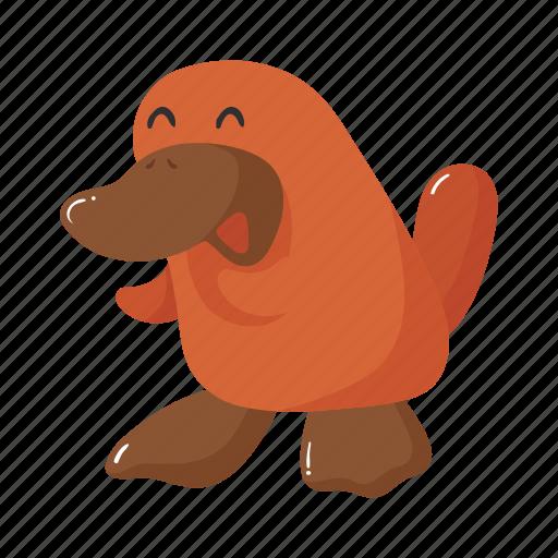animal, australia, brown, colorful, landmark, object, platypus icon
