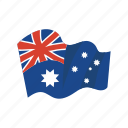 australia, colorful, flag, landmark, object icon