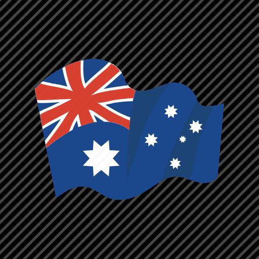 australia, colorful, flag, landmark, object icon