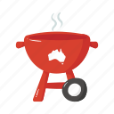 australia, barbeque, bbq, colorful, landmark, object, tail gate icon