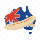 australia, board, colorful, landmark, map, object, surf icon