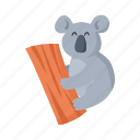 australia, colorful, koala, landmark, object icon
