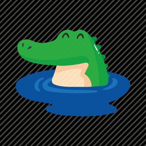 alligator, australia, colorful, crocodile, landmark, object, swim icon